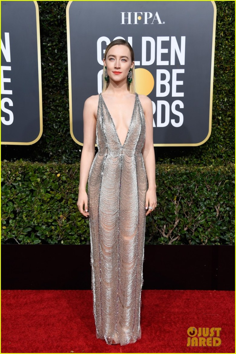 golden globes 2019, golden globes, awards season, red carpet, fashion, look, gown, tapete vermelho, premiação, moda, look, vestido longo, hollywood, saoirse ronan