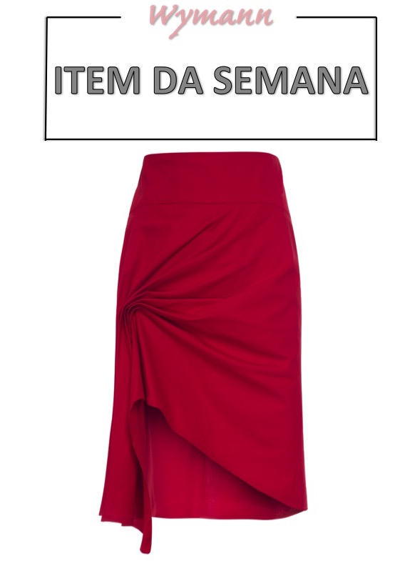 saia vermelha, drapeado, item da semana, link afiliado, like to know it, moda, estilo, looks, fashion, style, outfits, item of the week, affiliate link, red skirt