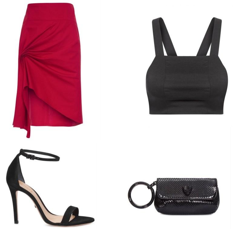 saia vermelha, drapeado, item da semana, link afiliado, like to know it, moda, estilo, looks, fashion, style, outfits, item of the week, affiliate link, red skirt