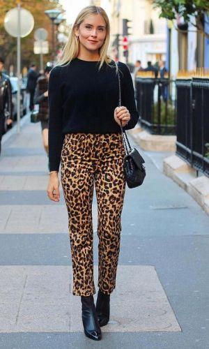 calça de onça, looks, moda, como usar, estilo, inspiração de moda, styling, fashion, style, leopard pants, animal print, how to wear, valentina ferragni