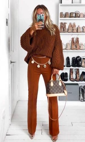 cinto de corrente, look, tendência, moda, chain belt, fashion trend