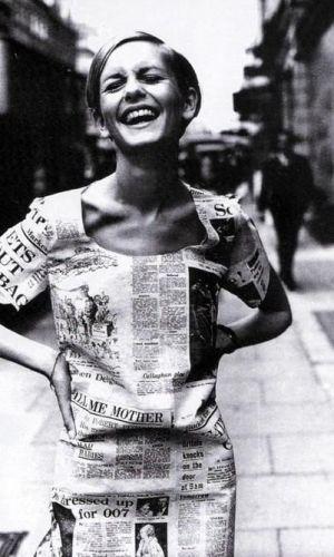 estampa de jornal, tendência, moda, newspaper print, trend, fashion, twiggy