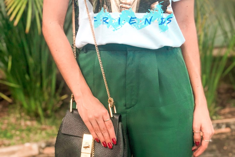 calça verde, green pants