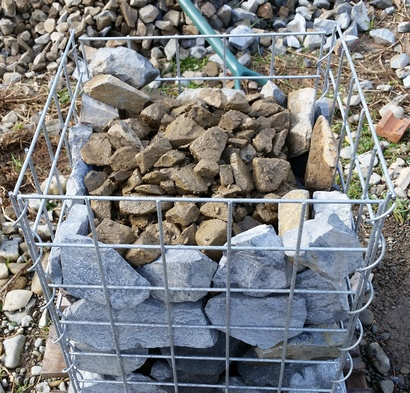 railway ballast filled gabion