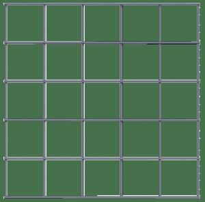 Panel 500 x 500 - 100 x 100 - 5mm transparant
