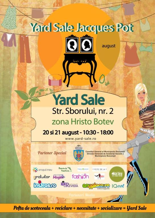 Yard Sale 20-21 august @ Jacques Pot
