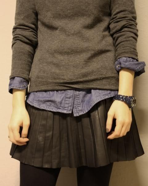 Camasa pe sub pulover
