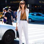 Blazerul alb – manevra vestimentara de primavara