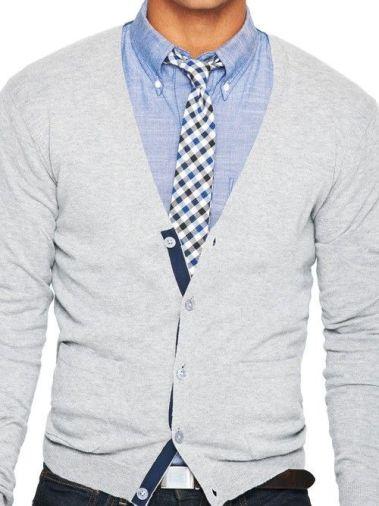 Pulover barbatesc cardigan