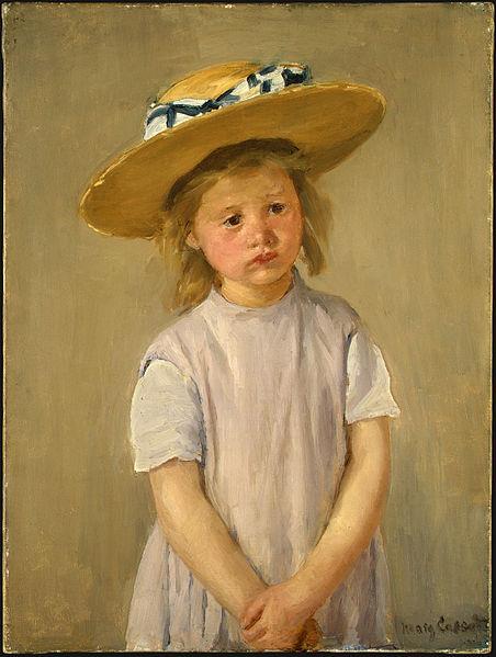 452px-Child_in_a_Straw_Hat_by_Mary_Cassatt_c1886