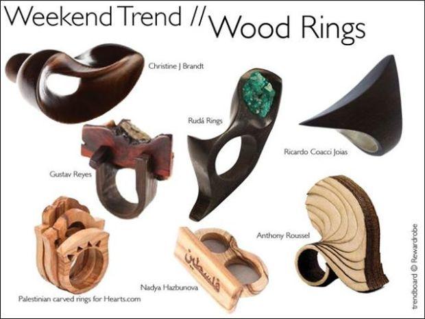 Inele din lemn – bijuterie contemporana