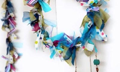 Deco-Eco-decoratiuni de iarna din haine vechi