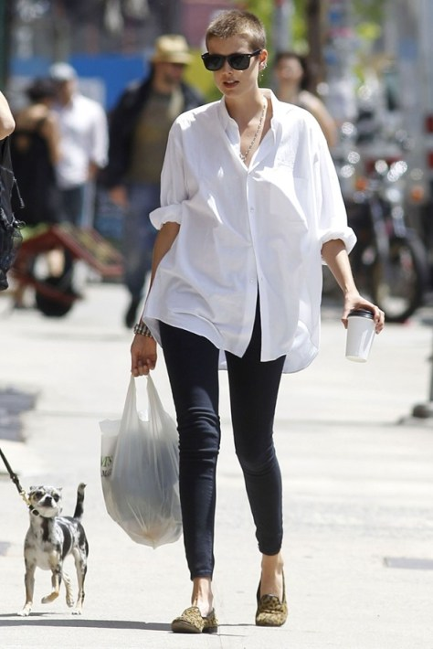 Off duty models si camasile albe barbatesti