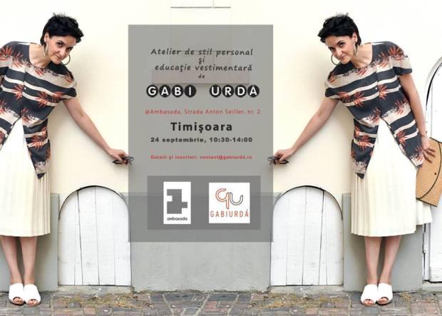 Atelier de stil personal si educatie vestimentara, Timisoara, 24 sept la Ambasada