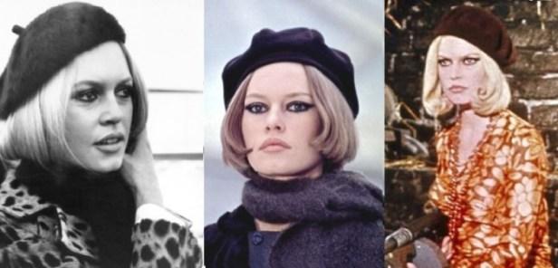 Brigitte Bardot si mai multe moduri de a purta bascul