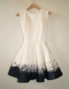 DIY Paintdrops splattered dress pollock2