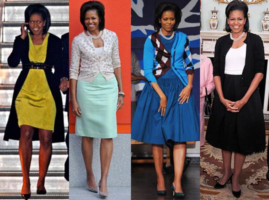 Din nou Michelle Obama si jocurile de cardigane