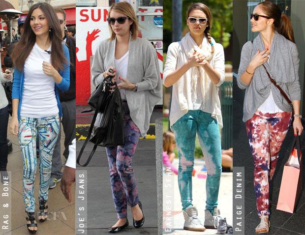 Trend – jeansi imprimati