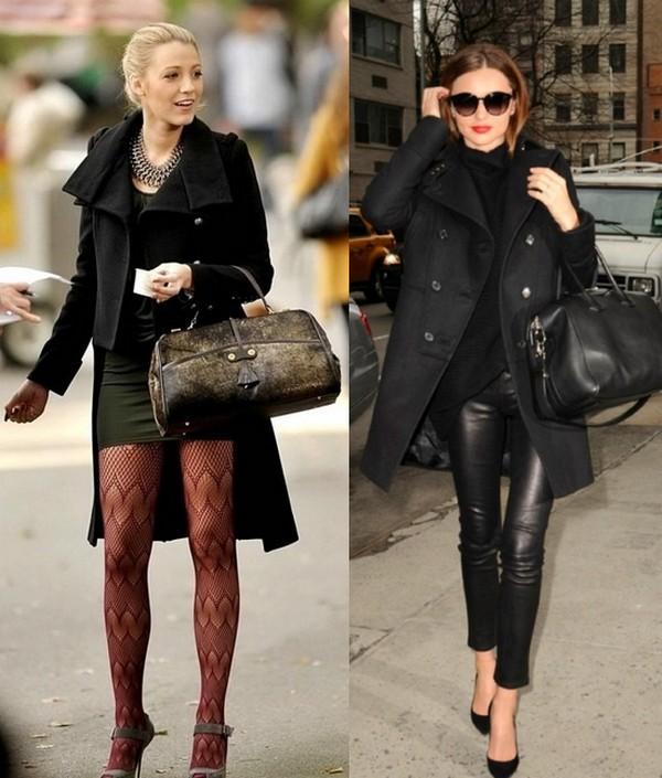Paltonul negru, usor de purtat, asortat, insa mult mai banal decat unul camel