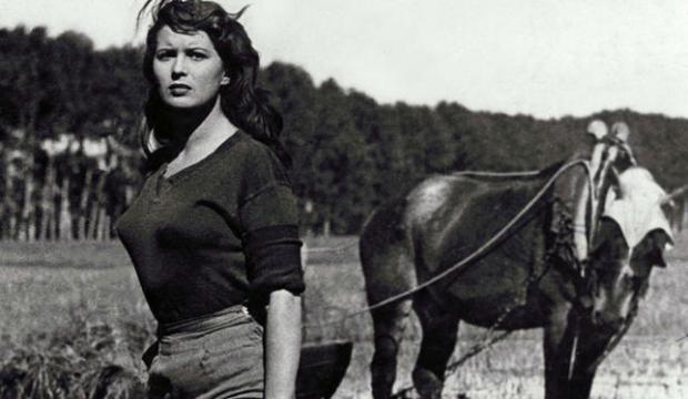 Campurile de orez din Bitter Rice (1949) cu Silvana Mangano