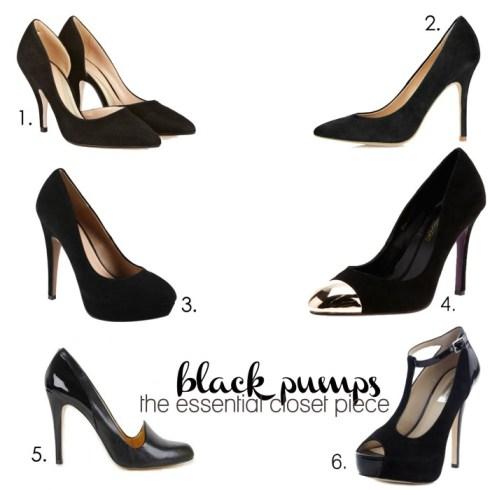 Pantofii negri cu toc variante