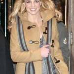 Britney si paltonul sau Duffel, confy si functional, departe de a fi elegant