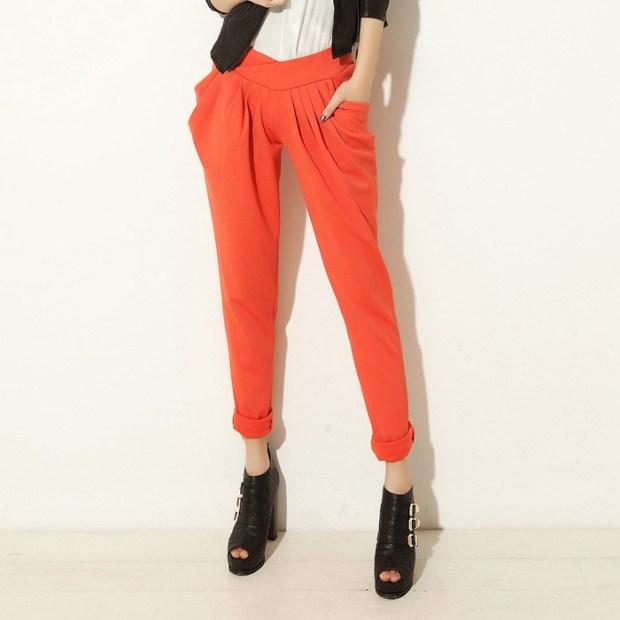 candy-color-harem-pants-roll-up-hem-casual-high-waist-pencil-pants-trousers-PL12061904