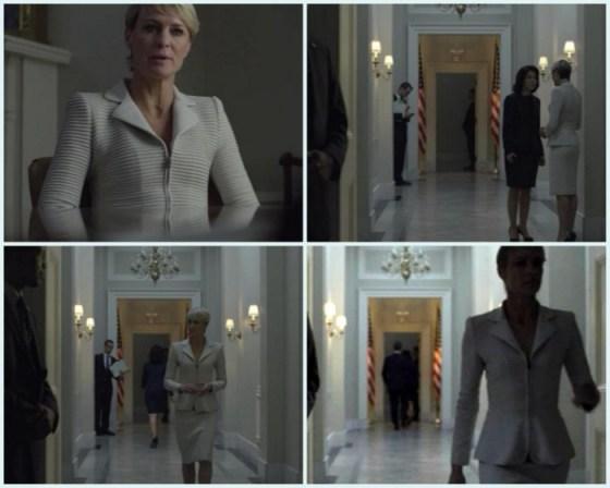 Claire Underwood si detaliile unui costum perfect