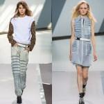 Pantaloni si fusta din denim degradat - Philip Lim
