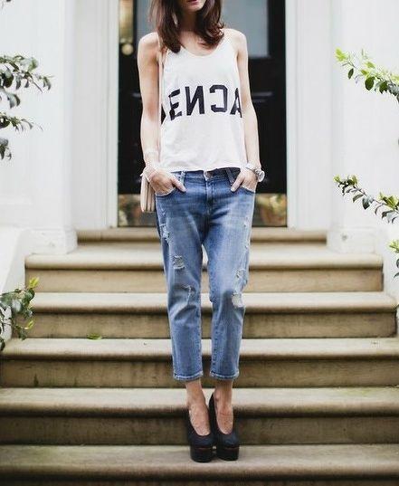 Trendy style boyfriend jeans