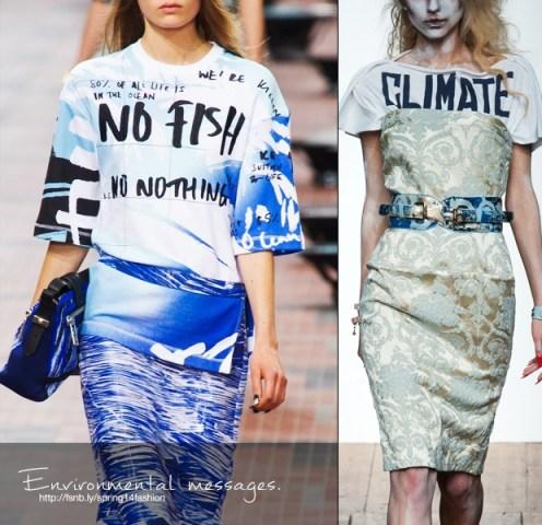 Mesajele ecologiste ale 2014  Credit: fashionising.com
