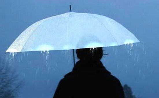 Umbrela care lumineaza