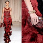 marchesa-rtw-spring-summer-2013-red-fringe-dress-trend-style-runway