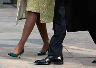 Michelle Obama si lungimile retro