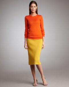 O tinuta colorata si cuminte, de birou vesel si fashionist