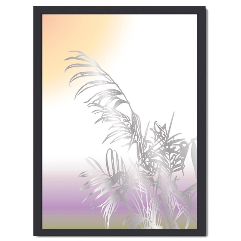 Affisch palm silver