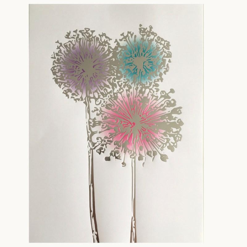 Affisch Allium silver