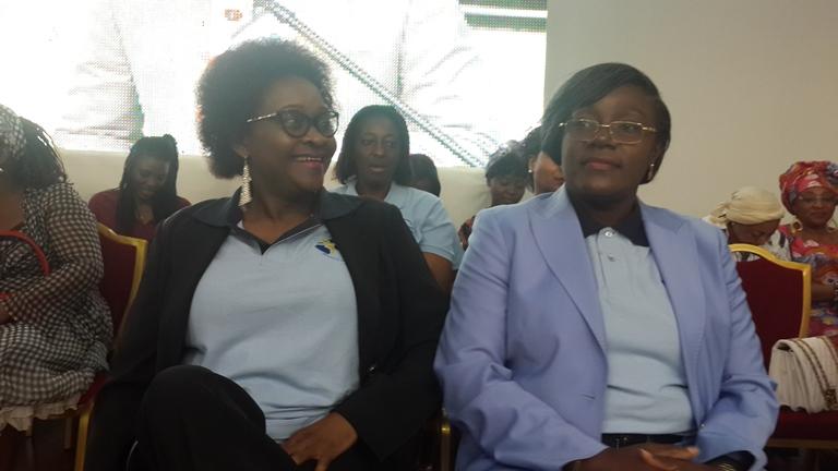 Dr Nicole Assélé (droite) et Yolande Nyonda (gauche), principales initiatrices dudit Mouvement féministe @ Gabonactu.com