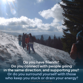 Meeting with yourself: Day 25 (friends)