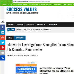 success values book review