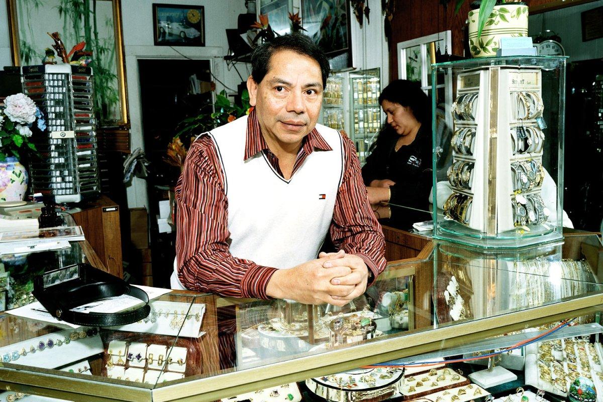Godofredo Cruz owner of Godofredo's Jewelry on 22nd and Valencia.