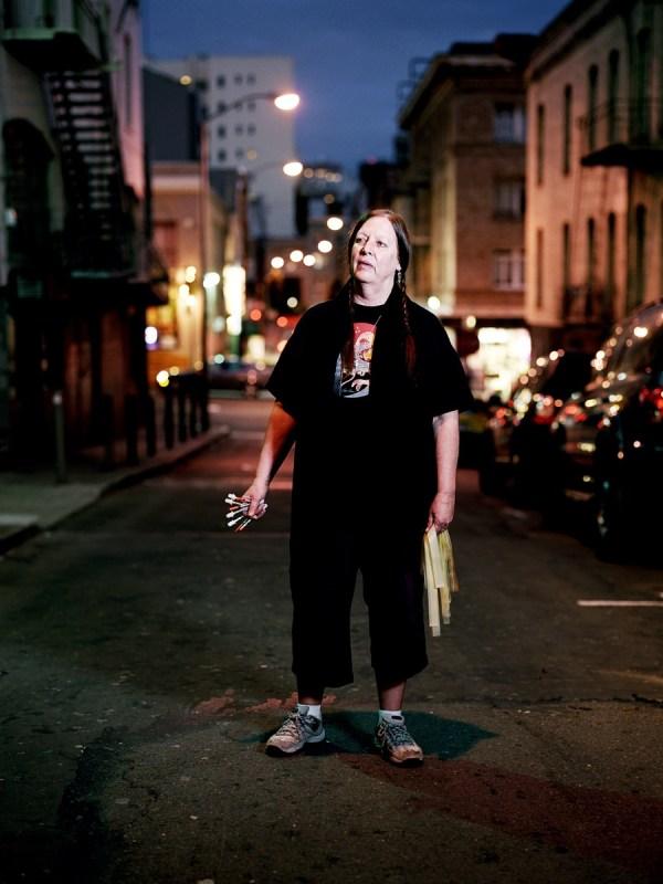 Donna Saffiati hosting the needle exchange program in Hemlock Alley.