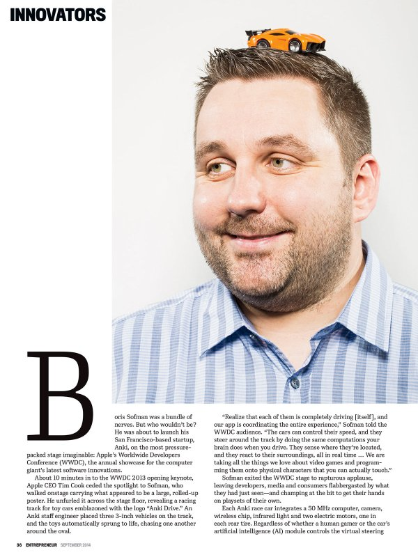 Boris Sofman of Anki for Entreprenuer Mag.
