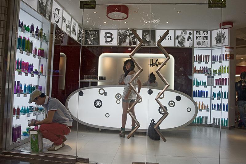 China, Shanghai, hairdresser, fashion