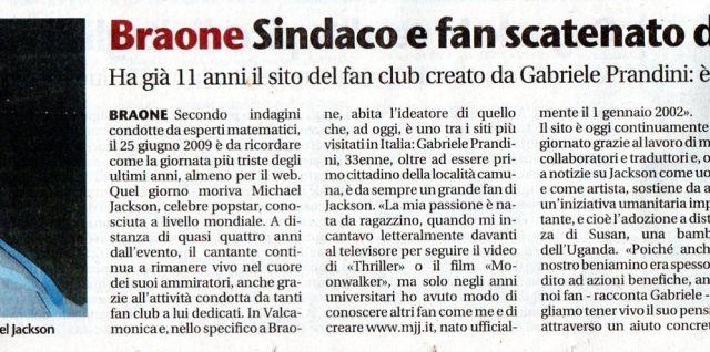 scansione articolo Giornale di Brescia del 22/05/2013