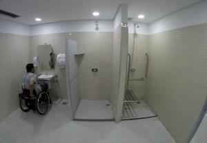 Parque Olímpico - Vestiário acessível