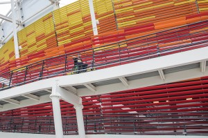 Parque Olímpico - Rampas de acesso com inclinação suave