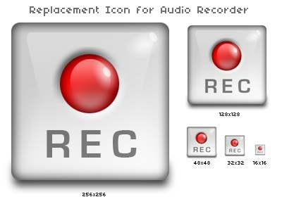 Replacement Icon for Audio Recorder for OS X