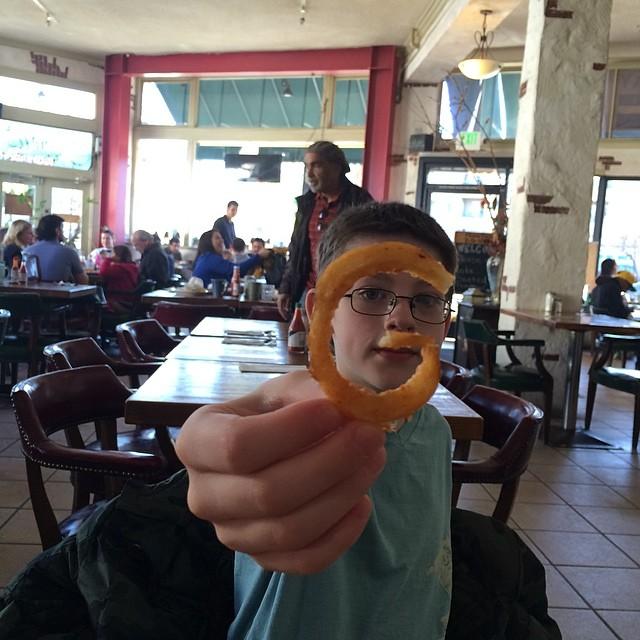 "Alex shows off a ""G fry"""