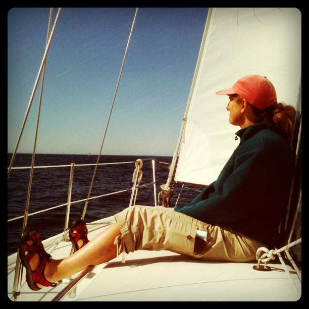 Anna Lisa enjoying the perfect sailing conditions